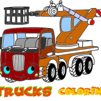 Funny Trucks Coloring